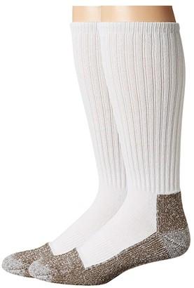 Sof Sole Steel Toe Over the Calf Work Socks 2-Pack (Black) Men's Crew Cut Socks Shoes