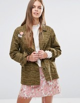 Maison Scotch Peace Badges Safari Jacket