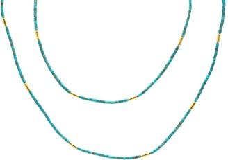 Gurhan 24kt gold Jet Set strand necklace