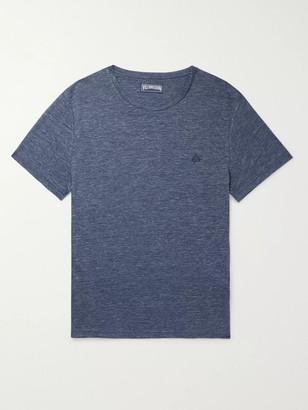 Vilebrequin Tiramisu Logo-Embroidered Linen T-Shirt