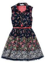 Knitworks Knit Works Shirt Dresses Girls Belted Sleeveless Shirt Dress