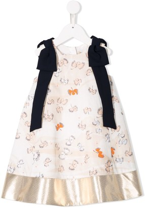 Hucklebones London Embroidered Flared Dress