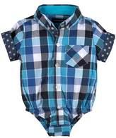 Andy & Evan 'Shirtzie' Check Print Bodysuit (Baby Boys)