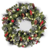 Crestwood National Tree Company 24 Spruce Wreath w/ Battery Operated Warm White LED Lights