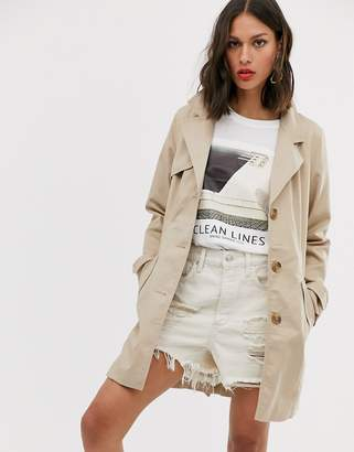 Only trench coat-Beige