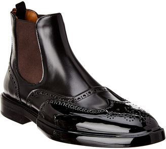 Burberry Patent & Leather Chelsea Boot