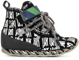 Camper x Bernhard Willhelm abstract-print 65mm high-top sneakers