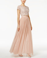 Adrianna Papell 2-Pc. Sequined Tulle A-Line Dress