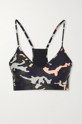The Upside Andie Camouflage-print Stretch Sports Bra - Army green