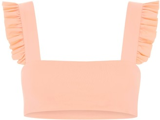 Holiday Romance Jordan Bikini Top - Peach