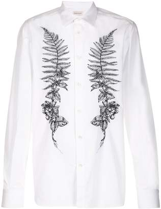 Alexander McQueen embroidered fern shirt