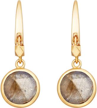 Astley Clarke Women's Yellow Gold Stilla 18ct Gold-Plated Labradorite Earrings