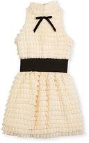 Zoë Ltd Gia Halter Ruffle Bubble Dress, Size 7-16