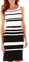 Liz Claiborne Striped Sheath Dress