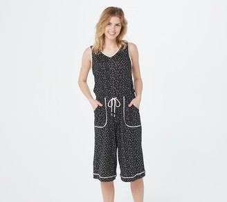 Cuddl Duds Cool & Airy Jumpsuit with Front Tie