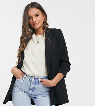 ASOS DESIGN Petite mix and match suit blazer in black