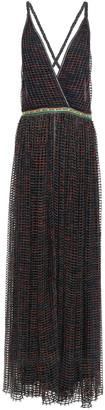 Missoni Open-back Metallic Open-knit Maxi Dress