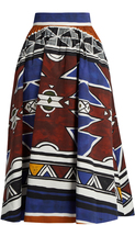 Stella Jean Graphic-print cotton midi skirt