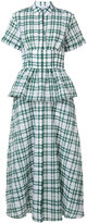 Rosie Assoulin peplum plaid dress - women - Cotton/Polyamide/Polyester - 4