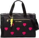 Betsey Johnson Collegiate Heart Weekend Bag