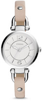 Fossil Georgia Mini White Leather Watch