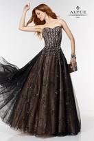 Alyce Paris - 6581 Prom Dress in Black Silver