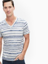 Splendid Digital Stripe V-Neck Tee