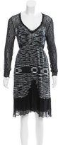 M Missoni Lace-Trimmed Space-Dyed Dress