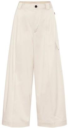 Woolrich High-rise wide-leg cargo pants