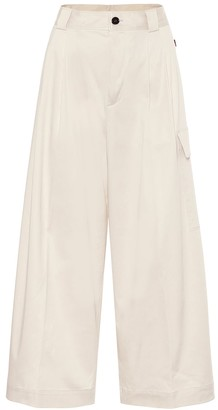 Woolrich High-rise wide-leg cargo pants