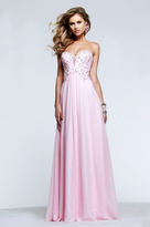 Faviana s7522 Beaded Strapless A Line Long Gown