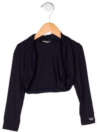 Armani Junior Girls' Crop Long Sleeve Cardigan