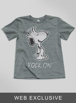 Junk Food Clothing Toddler Boys Snoopy Rock On! Tee-steel-4t