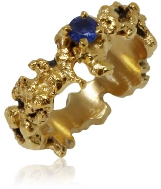 Out Of The Sea Ring With Sapphire
