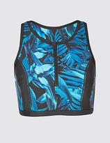 M&S Collection High Neck Printed Bikini Top