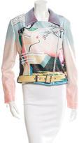 Mary Katrantzou Printed Moto Jacket w/ Tags
