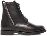 Saint Laurent Leather Ranger Zipper Combat Leather Boots