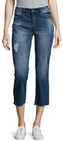Kensie Jeans Cropped Dark Wash Jeans