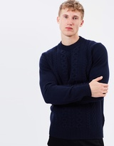 Ben Sherman Cable Front Crew Knit