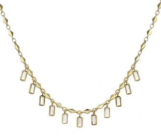 Rachel Reinhardt 14K Plated Clear Quartz Necklace