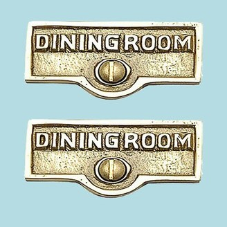 The Renovators Supply Inc. Dining Room Name Signs Labels Switch Plate Tag