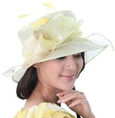 June's Young New Fashion Sun Hats for Women Organza Hat Small Tea Party