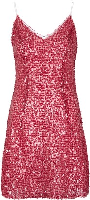 Walk of Shame Fuchsia Sequinned Mini Dress