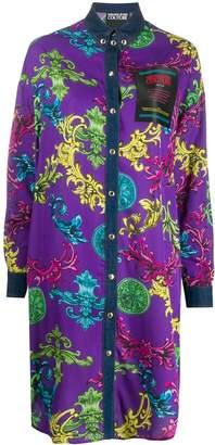 Versace baroque print longline shirt