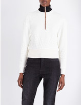 Maje Tolly quilted sweatshirt