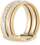 Marco Bicego Goa 18k Gold Five-Row Double Pave Diamond Ring