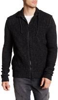 Rogue Knit Wool Blend Zip Hoodie