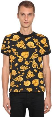 Versace Printed Cotton Jersey T-shirt
