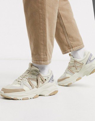 Asos DESIGN sneakers in tonal stones with chunky sole