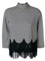 Marc Jacobs striped fringe top